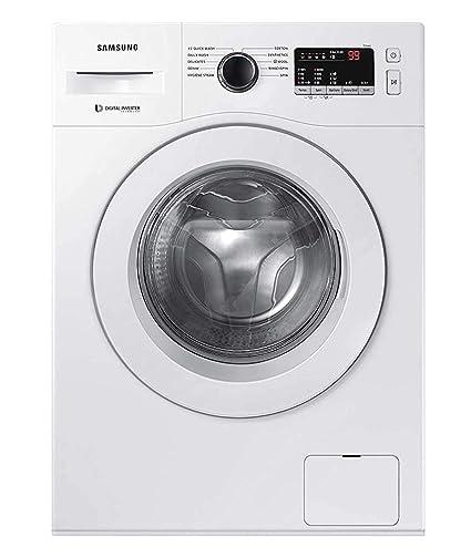 Samsung 6.5 Kg Inverter 5 Star Fully Automatic Front Loading Washing Machine  WW65R20GLSW/TL, White, Hygiene Steam  Washing Machines   Dryers