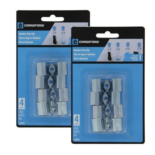 New LeHigh Grip Clip Hanging Organizer Size Medium 4 Clips Per Pack 13201 (2 Pack)