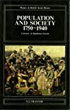Population and Society 1750-1940 : Contrasts in Population Growth, Tranter, Neil L., 0582492246