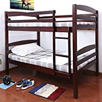 Milton Greens Stars Oakvale Wooden Twin over Bunk Bed, Cherry
