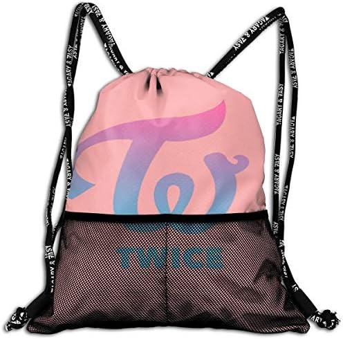 Twice Tzuyu (1) ナップサック アウトドア ジムサック 防水仕様 バッグ 巾着袋 スポーツ 収納バッグ 軽量 バッグ 登山 自転車 通学・通勤・運動 ・旅行に最適 アウトドア 収納バッグ 男女兼用 ジムサック バック