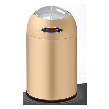 AlgerSensor Mülleimer ,Abfalleimer Automatik Edelstahl,für Wohnzimmer,  Küche, Schlafzimmer, Weiß,