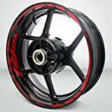 Yamaha YZF R1 Gloss Red Motorcycle Rim Wheel Decal Accessory Sticker