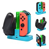 FastSnail Controller Charger for Nintendo Switch, Pro Controller and Joy-Con Charging Dock