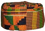 Kente Pattern Kufi Kofi Hat Cap