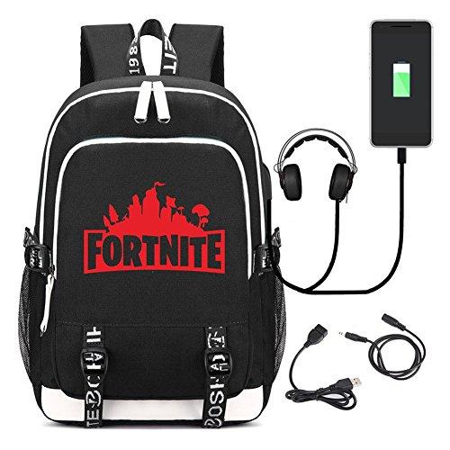 Price comparison product image Fortnite Men Backpack Student School Bag Laptop Backpack for Women Children Boys Kids with USB Charging Port