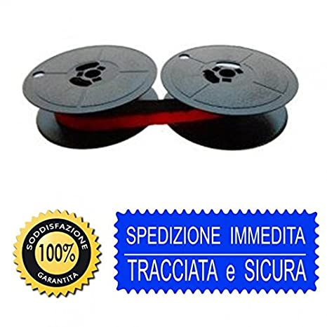 Cinta de máquina de escribir Olivetti Lettera 22, 25 y 35 y otras, en negro y rojo, de tela, 2 bobinas: Amazon.es: Electrónica
