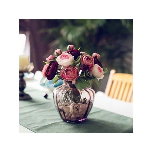 1-Bundle-Rose-Wedding-Bridalbridesmaid-Bouquets-Artificial-Fabric-Flowers-Wine