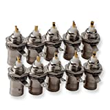 bnc panel - BNC Female to RF Radios Connector Adapters, DCFun 10-Pack Panel Mount with Nut Bulkhead