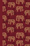 Journal: Elephant Pattern (Red) 6x9 - LINED JOURNAL - Journal with lined pages - (Diary, Notebook) (Animals)