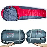 sleeping bag - Rovor Couzy 40 Degree Mummy Sleeping Bag with Included Stuff Sack | the Couzy Sleeping Bags for Adults have a 40 Degree Comfort Rating Which Allows for Multi-Season Use