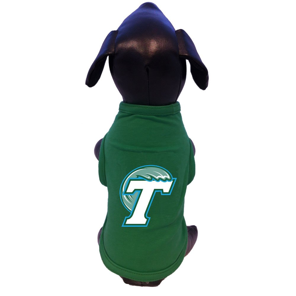 NCAA Tulane Green Wave Cotton Lycra Dog Tank Top XX-Small