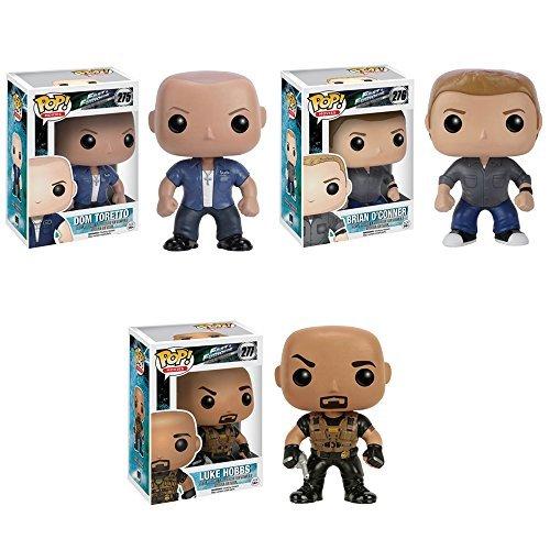 Pop! Movies: Fast & Furious Dom Toretto, Luke Hobbs and Brian O' Connor Vinyl Figures! Set of 3