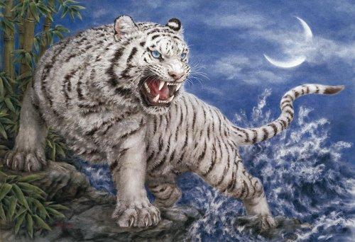 Master 450 small piece Harai Kayomi White Tiger 08-038 of puzzle (japan import)