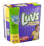 Luvs Ultra Leakguards Size 5 Diapers 25 CT (Pack of 16)