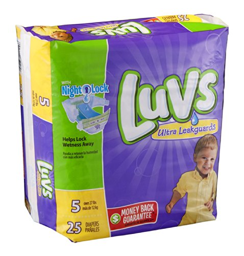 Luvs Ultra Leakguards Size 5 Diapers 25 CT (Pack of 16) by Luvs