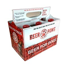 Non-alcoholic beer just for dogs - Why should humans have all the fun? Doggy Beer is a delicious beef dog treat any canine will enjoy; and now you don't have to drink alone. Grab a 6 pack for yourself and your best friend, and let life become...