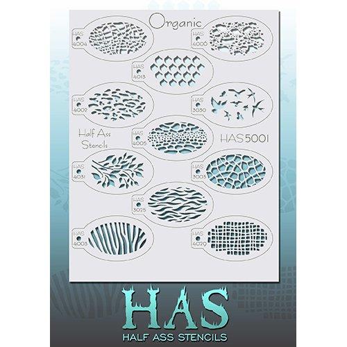Half Ass Organic Stencils HAS5001 ()