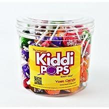 Yost Kiddi Pops, 80 Count Tub - 8 Assorted Flavor Variety Pack Lollipops