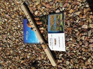 Windpony Key of F# Unfinished Poplar Native American Style Flute, Book & 2 Cd Starter Set
