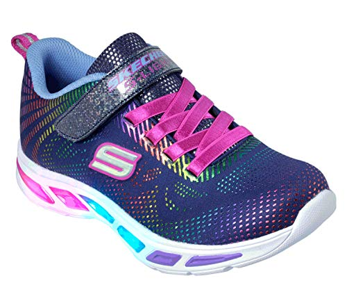 Skechers Kids Girls' Litebeams-gleam N'dream Sneaker, Navymulti, 13 Medium Us Little Kid