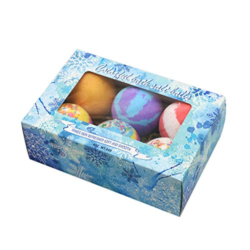 Ninasill Boxed sea Salt exfoliating Bath Explosion Bubble Foam spa moisturizing Bubble Explosion Salt Bath Salt Ball (Ice World)