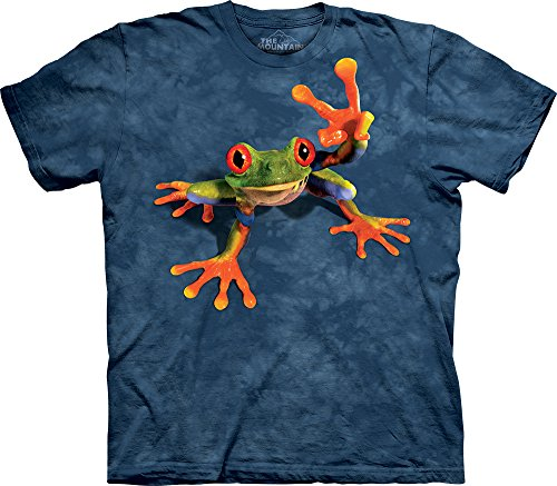 The Mountain Men's Victory Frog T-Shirt, Blue, X-Large - Big Frog T-shirts