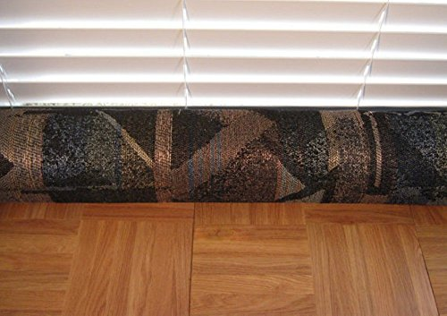 Door Draft Stopper Fabric Only Heavy Weight Black Upholstery Fabric Custom Made 24