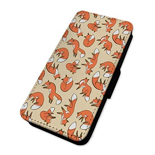 Cute Red Fox modello–Flip cover in pelle copertura di carta Apple Iphone 8
