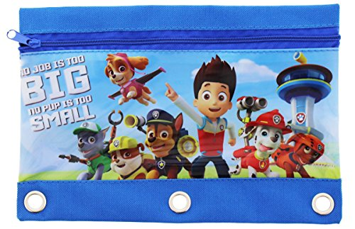 Set of 2 Paw Patrol Pencil Pouches Bags Marshall Rubble Chase Rocky Zuma Skye Everest Photo #2