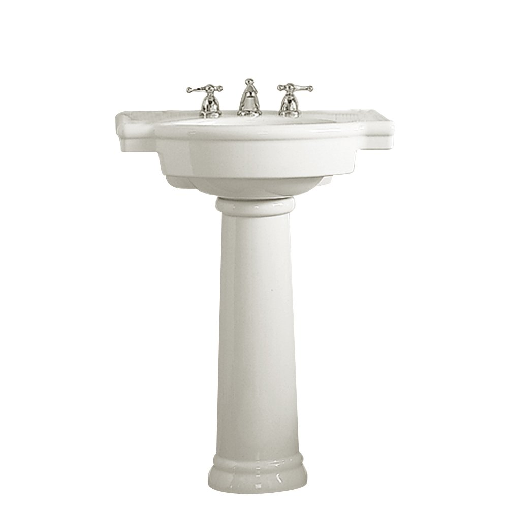 American Standard 0282.800.020 Retrospect Pedestal Bathroom Sink With  8 Inch Faucet Spacing, White   Pedestal Sink Combo   Amazon.com