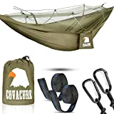 COVACURE have changed the game and created a Camping Hammock with Mosquito Net - the most stylish travel hammock. - Good Quality - The hammock is made of super strong 210T parachute nylon material. This soft, breathable will last for a long lifetime....