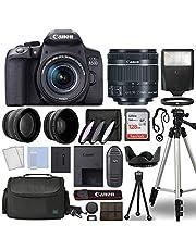 Canon EOS 850D / Rebel T8i Digital SLR Camera Body w/Canon EF-S 18-55mm f/4-5.6 is STM Lens 3 Lens DSLR Kit Bundled with Complete Accessory Bundle + 128GB + Flash + Case & More - International Model