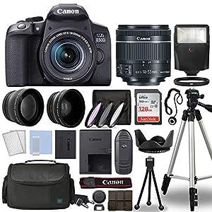 Canon-International, EOS 850D Rebel T8i Digital SLR Camera Body wCanon EF-S 18-55mm f4-5.6 is STM Lens 3 Lens DSLR Kit…