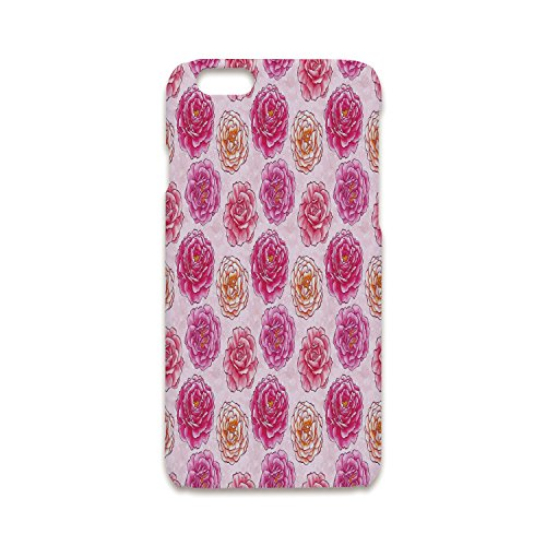 iPhone 5/5s Shock Absorber Bumper Cover,Floral,Romantic Rose Petals Fragrance Bouquets Love Classic Blooms Graphic,Magenta Light Pink Coral,Hard Plastic Phone Case