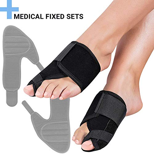 - FeetVul Bunion Corrector and Bunion Relief, Orthopedic Big Toe Straightener, Elastic and Adjustable Bunion Splint, Turf Toe Brace Effective Hallux Valgus Treatment for Women and Men