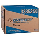 "Kimberly-Clark 33352 Kimtech Prep Kimtex Disposable Brag Box Wiper, 16-51/64"" Length x 12-3/32"" Width, Blue (Case of 180)"