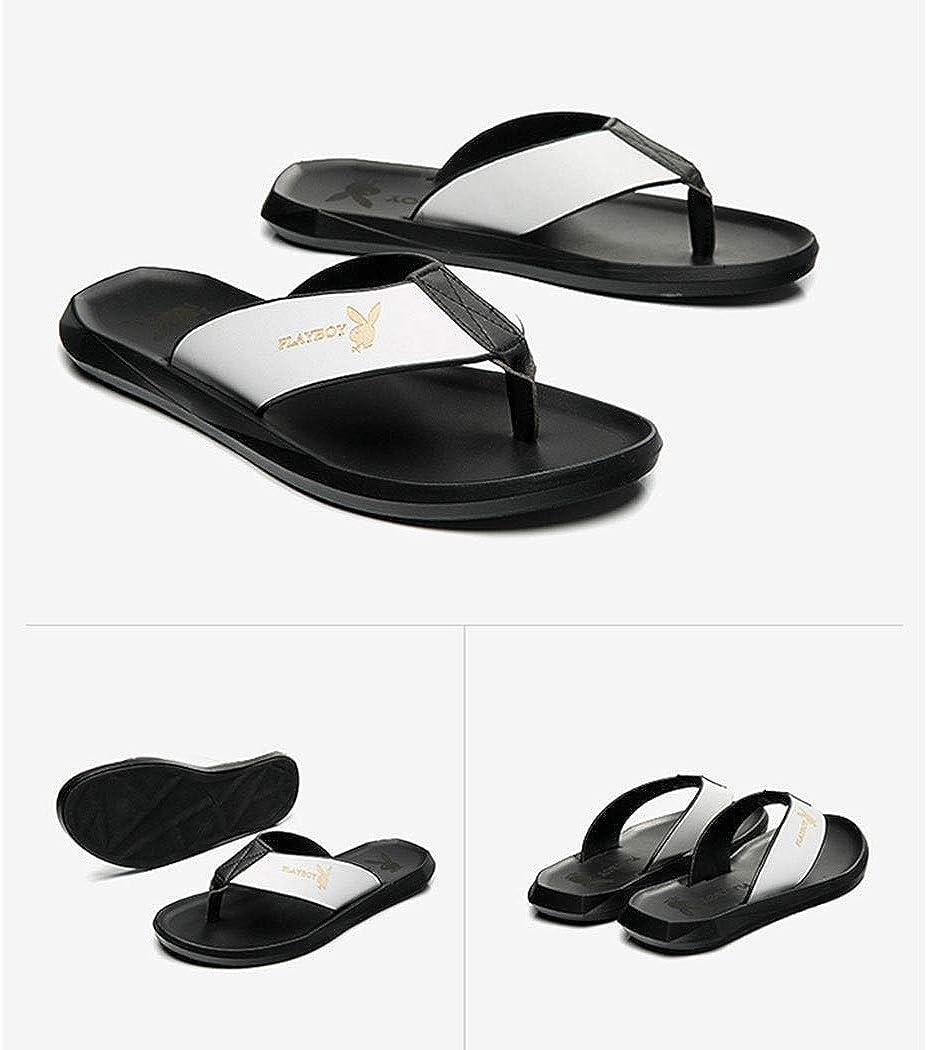 HUIFANGFLIPFIOP Flip-Flop Outdoor Mens Flat Rubber Slippers Mens Flip-Flops Beach Summer Slip Fashion Wear Summer Clips Drag Sandals 39-44