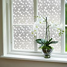 Color Your World Vinyl Garden Style Floral Decorative Window Film Self Adhesive White Frosted Dandelion Pattern Sliding Door Privacy Window Covering Film,17.7 x 78.7 Inches(45CM by 200CM)