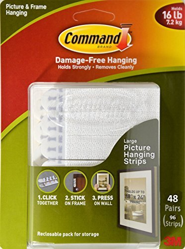 Command Picture & Frame Hanging Strips, 96 Large Strips - 48