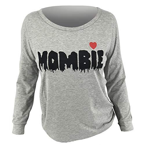 Unique Zombie Costumes (Unique Baby Women Mombie Halloween Zombie Long Sleeved T Shirt)