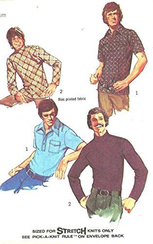 Simplicity vintage 1970s sewing pattern 6003 Men's knit shirts - Size M (38-40) ()