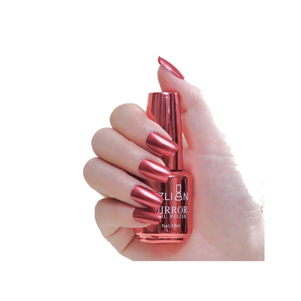 Xshuai® 18ML Metallic Nail Polish Magic Mirror Effect Chrome Nail Art Polish Varnish Health Nontoxic Nail Oil For Teens Women 18Color (11#)