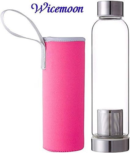 Grande capacité Verre Thé Bouteille Haute Verre Portable Extérieur Bureau bouteille d/'eau