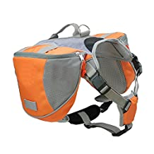 Docooler® Pet Backpack Dog Saddlebags Medium and Large Dogs Harness Bag Ideal for Outdoor Hiking Camping Training