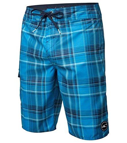 O'Neill Santa Cruz Catalina 2.0 Men's Board Shorts, Navy Blue Plaid, Size 32