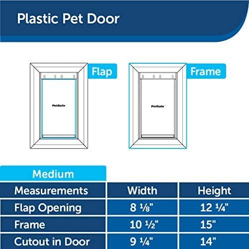 Puerta de plástico para mascotas mediana con solapa 6