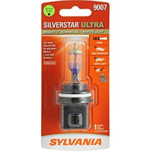 SYLVANIA 9007 SilverStar Ultra High Performance Halogen Headlight Bulb, (Contains 1 Bulb)