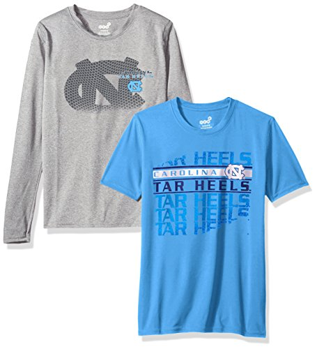 "NCAA by Outerstuff NCAA North Carolina Tar Heels Youth Boys ""Interface"" Dri-Tek Combo Pack, Light Blue, Youth Large(14-16)"