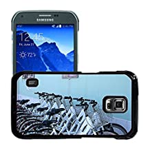 Super Stellar Slim PC Hard Case Cover Skin Armor Shell Protection // M00157994 Bicycles Bicycle Parking // Samsung Galaxy S5 Active SM-G870A (Not Fit S5)